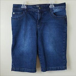 Nine West Vintage America Denim Bermuda Shorts
